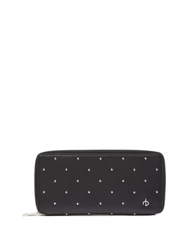 Studded Leather Zip Around Wallet by Rag & Bone