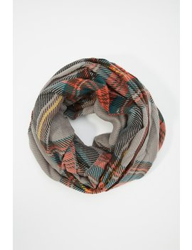 Plaid Infinity Scarf by Urban Planet