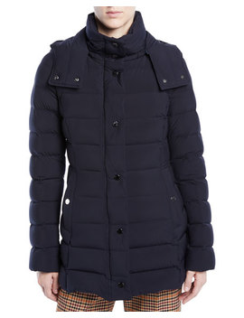 Harelde Channel Quilted Puffer Coat by Moncler