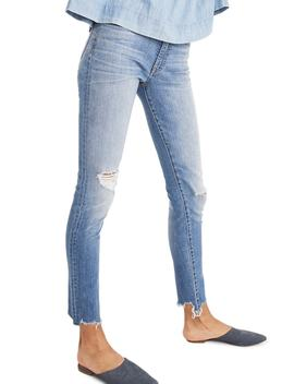 9 Inch Torn Knee Skinny Jeans by Nordstrom