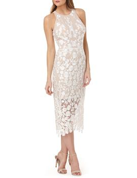 Embroidered Tea Length Dress by Nordstrom