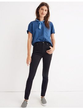"Petite 10"" High Rise Skinny Jeans In Johnny Wash: Comfort Stretch Edition by Madewell"