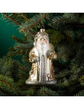 Glass Santa Ornament   100 Percents Exclusive by Bloomingdale's
