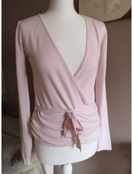 Baby Pink Wrap Tie Cardigan From Zara Size 12 14 by Zara