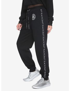 Black Craft Girls Jogger Pants by Hot Topic