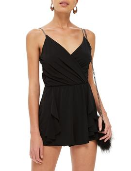 Crystal Strap Romper by Nordstrom