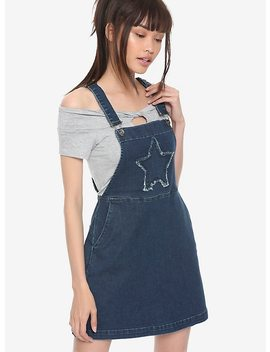 Blackheart Indigo Star Patch Skirtalls by Hot Topic