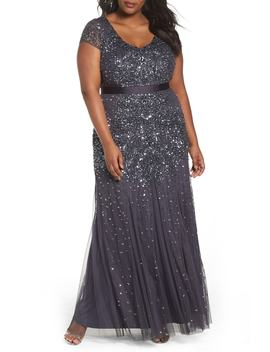 Beaded V Neck Gown by Nordstrom