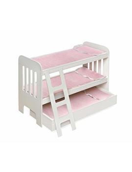 Badger Basket Trundle Doll Bunk Beds With Ladder (Fits American Girl Dolls) by Badger Basket