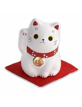 Maneki Neko White Cat Happiness by Jvs