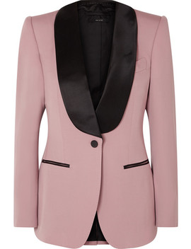 Silk Trimmed Wool Blazer by Tom Ford