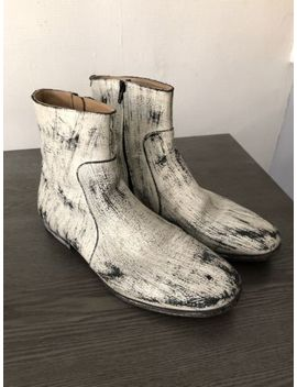 Maison Martin Margiela X Hm Painted Men Ankle Boots by Maison Martin Margiela