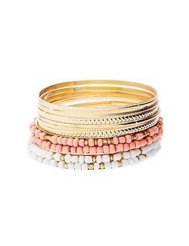 Beaded & Textured Bangles by Charlotte Russe