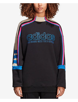 Cotton French Terry Colorblocked Sweatshirt by Adidas Originals
