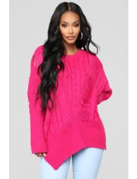 Need It In My Life Sweater   Hot Pink by Fashion Nova