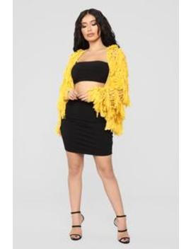 Lovestoned Cardigan   Mustard by Fashion Nova