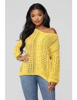 Let's Keep It Warm Sweater   Mustard by Fashion Nova