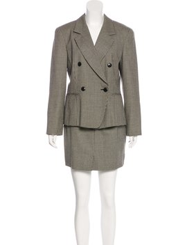 Wool Knee Length Skirt Suit by Max Mara