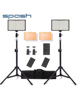 Spash Tl 160 S Led Light For Photography Video Studio Light Photographic Lighting 2 In 1 Kit Dimmable 3200 K/5600 K Led Photo Lamp by Spash