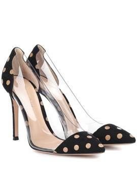 Exclusive To Mytheresa – Plexi Polka Dot Suede Pumps by Gianvito Rossi