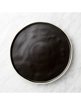 Sloan Black Dinner Plate by Crate&Barrel