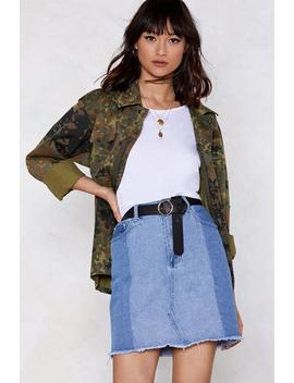 The Perfect Patch Denim Skirt by Nasty Gal