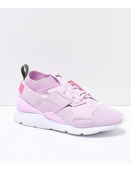 Puma Muse Evoknit Winsome Orchid Pink & White Shoes by Puma