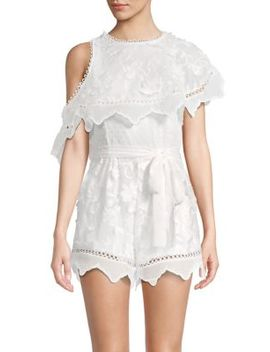 3 D Embroidered Floral Romper by Allison New York