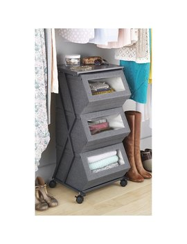 Stackable Window Box Cart (Gray) by Generic