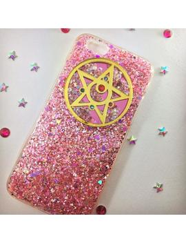 Made To Order   Sailor Moon Crystal Star Compact Pink Glitter Phone Case by Swag Unique