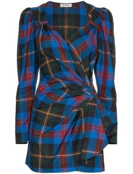 Tartan Wrap Mini Dress by Attico