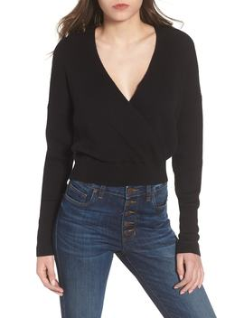 Rib Wrap Sweater by Nordstrom