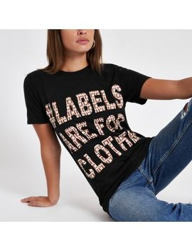 Black Ditch The Label Charity T Shirt by River Island