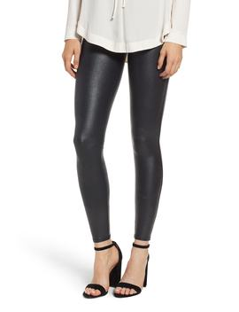 Pebbled Faux Leather Leggings by Nordstrom