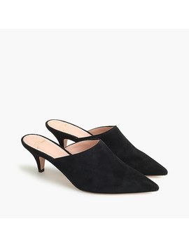 Kitten Heel Mules In Suede by J.Crew