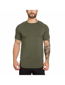 Kaifongfu Sleeve Top,Men Sports Fitness Short Bodybuilding Fitness Muscle T Shirt Blouse by Kaifongfu Mens Clothes