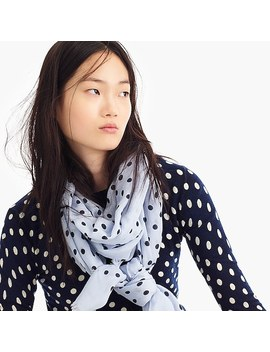 Polka Dot Midseason Scarf by J.Crew