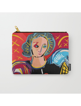 """Portrait Of A Girl With A Shirt """"I Love Matisse"""" Carry All Pouch by"""