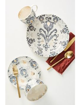 Tanja Dinner Plates, Set Of 4 by Anthropologie