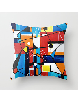 Geometric Throw Pillow by