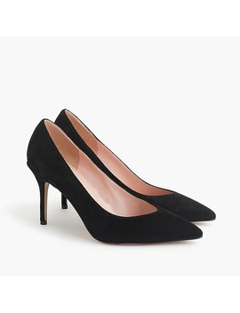 Suede V Cut Pumps by J.Crew