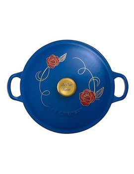 Disney Le Creuset Beauty And The Beast Limited Edition Soup Pot New With Box by Le Creuset