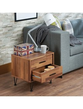 Langley Street Andres Contemporary 2 Drawers Nightstand by Langley Street