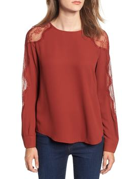 Lace Inset Blouse by Nordstrom