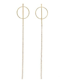 Drop Crystal Circle Earrings by Charlotte Russe