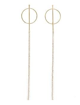 Drop Crystal Circle Earrings by Charlotte Russe