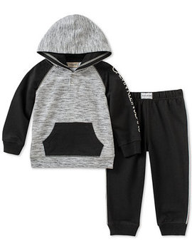 Baby Boys 2 Pc Hoodie & Jogger Pants Set by Calvin Klein