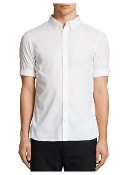 Redondo Half Sleeve Slim Fit Button Down Shirt by Allsaints