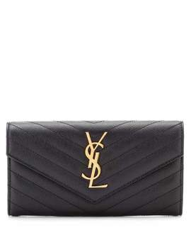 Large Monogram Leather Wallet by Saint Laurent