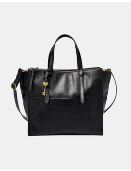 Campbell Black Tote by Fossil